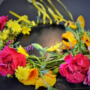 How to Make a Wildflower Wreath Hair Piece?