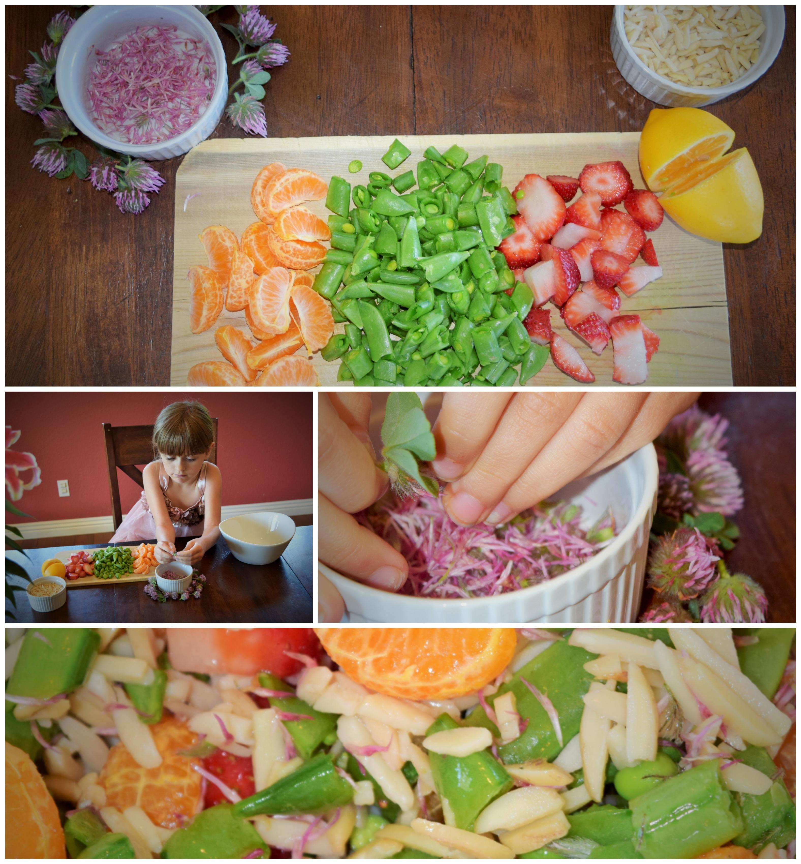 red clover salad